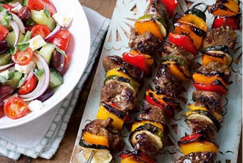 Greek Lamb Kebabs x4